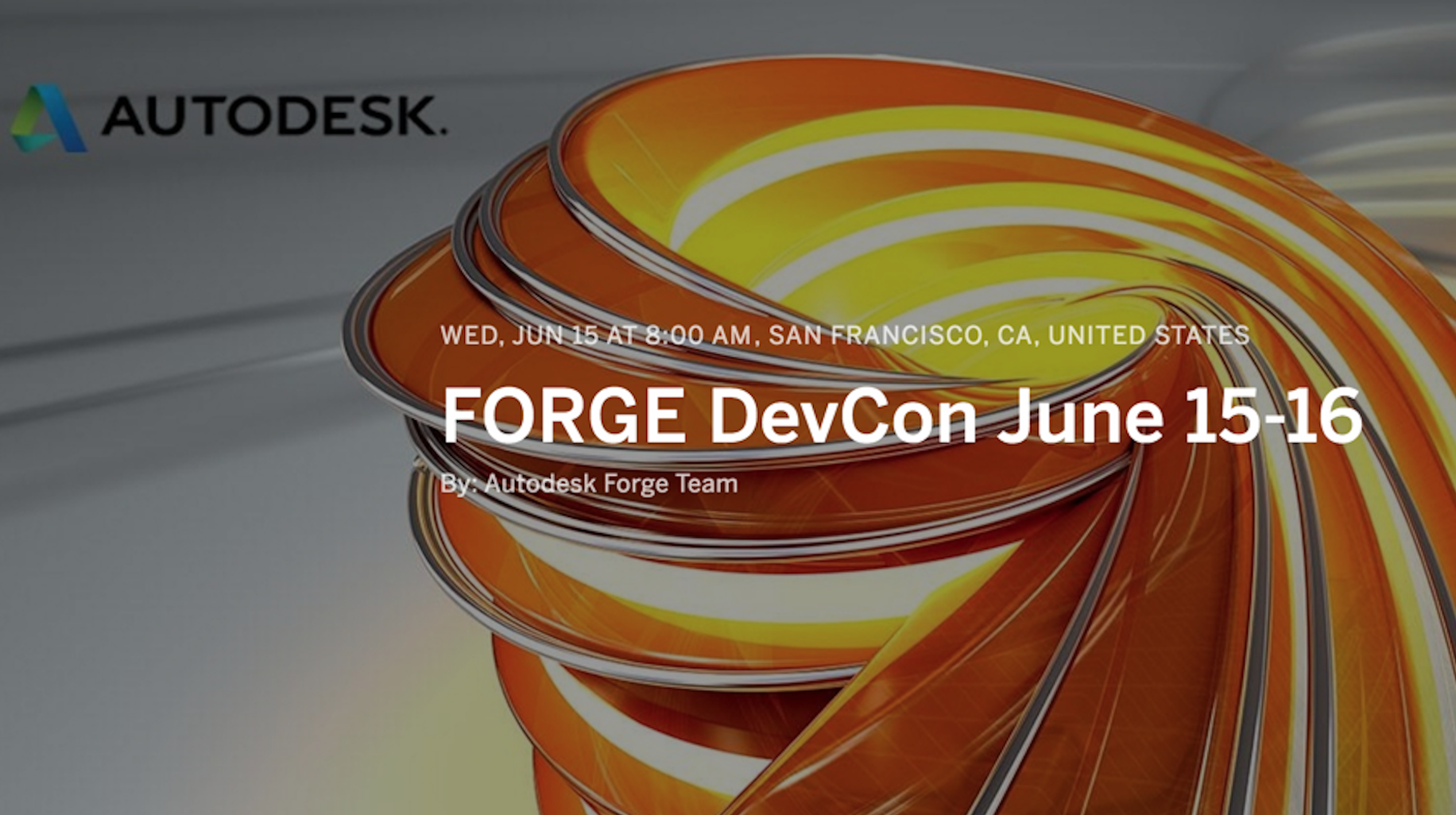VIP Invitation to Autodesk Forge Happy Hour