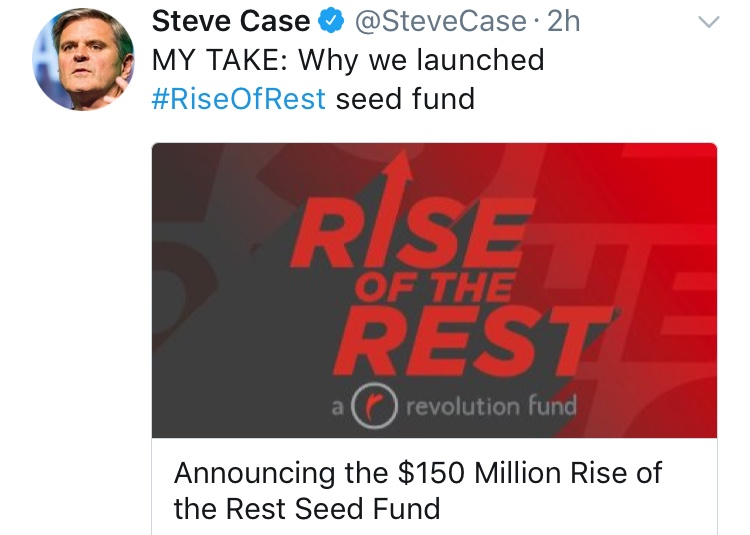 "Announcing the $150 Million ""Rise Of The Rest"" Seed Fund"